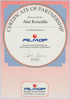 filmop certyfikat