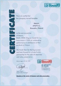 certyfikat buzil